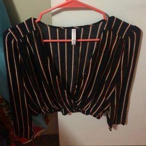 low crop top blouse